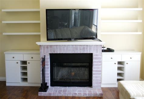 Chic Fireplace Makeover with Fake Built Ins   Miss Bizi Bee
