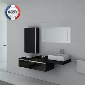 Meuble Simple Vasque : meuble de salle de bain suspendu simple vasque dis9550n ensemble de salle de bain noir distribain ~ Teatrodelosmanantiales.com Idées de Décoration
