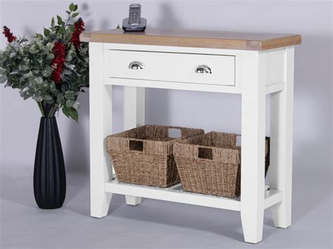 console table with baskets and drawers console tables solid oak furniture oakea