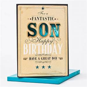 Boxed Birthday Card For A Fantastic Son Only 1 99