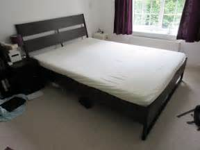 ikea trysil double bed frame with malfors foam mattress