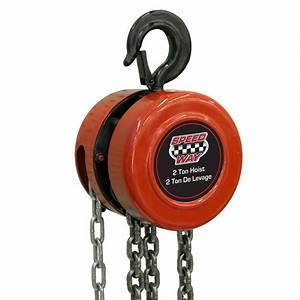 Speedway 2 Ton Manual Chain Hoist-7519