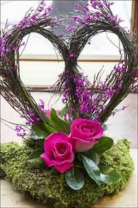 compositions florales 77 idees pour la deco avec des fleurs With chambre bébé design avec bouquet fleur coeur