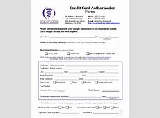 Credit Card Authorization Form Template 10+ Free Sample
