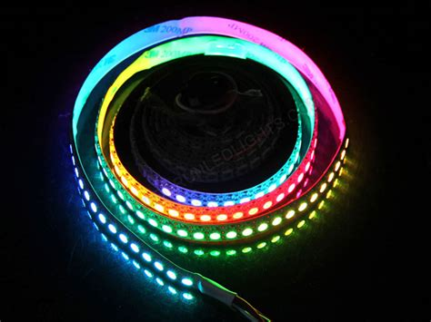 colored led light strips 5050 5v 144 leds per meter ip20 nonwaterproof ws2812b rgb