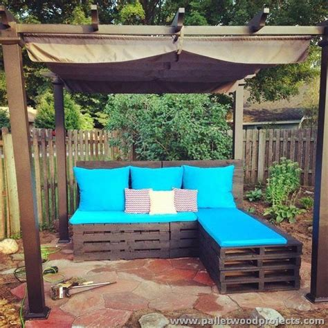 Patio Furniture Made From Pallets by Pallet Patio Sectional Sofa Plans Pallet Wood Projects