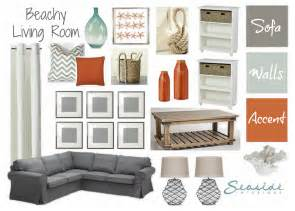 Coral Curtains Target by Seaside Interiors Beachy Living Room With Grays And Orange