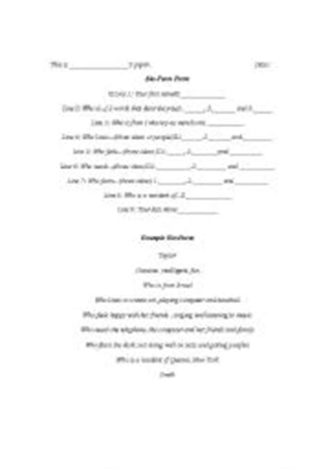 bio poem template bio poem exles for high school best photos of bio poem sle exles summarizing mini