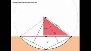 Kugel Oberfläche Berechnen : eine kugel im sand berechnung des radius der kugel aus den daten der hinterlassenen mulde im ~ Themetempest.com Abrechnung