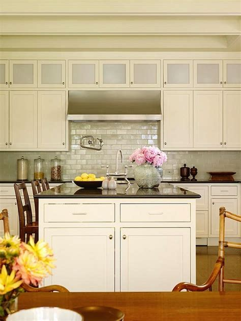 Iridescent Backsplash   Cottage   kitchen   Christine