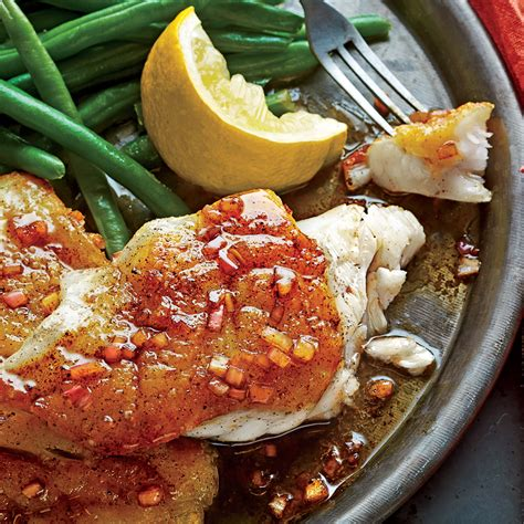 grouper pan seared sauce butter brown recipe balsamic fish recipes myrecipes seafood groupers dinner magic restaurant groupies fresh snapper sl
