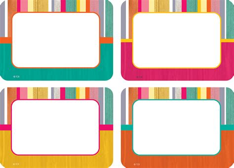 Tropical Punch Name Tags Labels Multi Pack Tcr