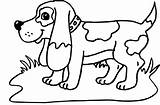Hound Coloring Basset Pages Dogs Via sketch template