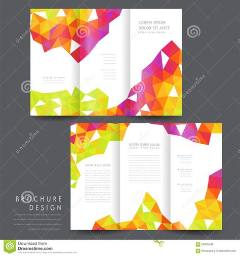 Colorful Brochure Templates by Attractive Tri Fold Brochure Template Design Stock Vector
