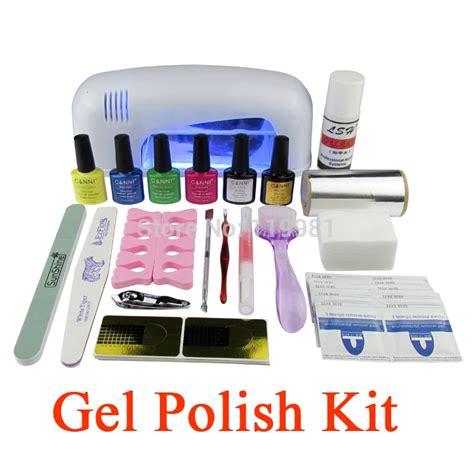 gel nail kit with uv light gel set soak led uv gel kit uv 9w curing l