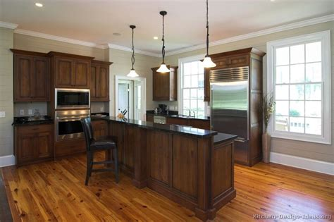 Two Tones Style With Kitchen Colors With Dark Wood