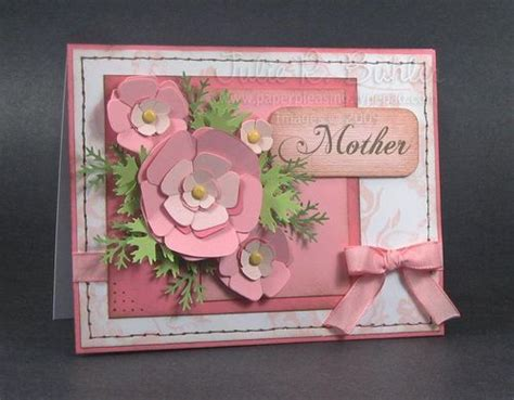 handmade mother s day card pink and white with pale