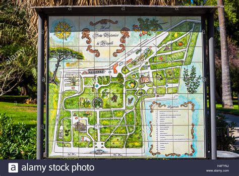 Botanischer Garten Naples by Naples Italy Map Of The Botanical Garden Stock Photo