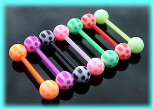Plastic Tongue Bars Tongue Studs Flexible Barbells