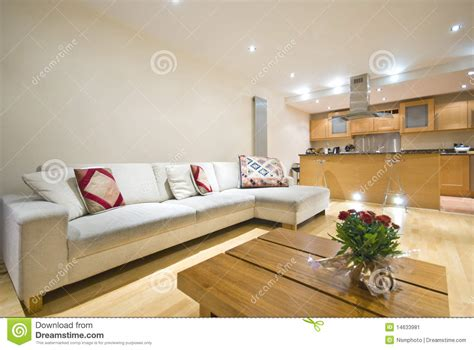contemporary open plan kitchen living room modern open plan living room and kitchen stock image 9455