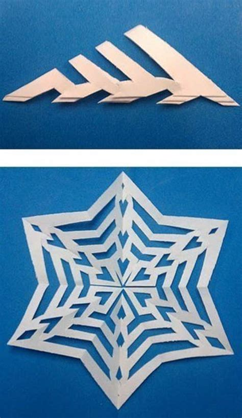 creative ideas  easy paper snowflake templates