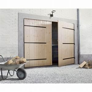 porte de garage bois 3 vantaux With porte de garage enroulable avec porte 2 vantaux interieur