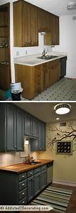 before and after teeny tiny kitchen cheap makeover what an amazing improvement 1153