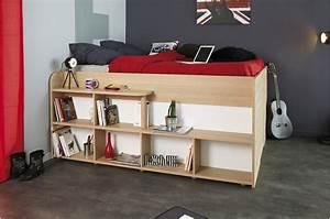 Lit Combiné Double : lit combin 140x200 cm gain de place roxy cbc meubles ~ Premium-room.com Idées de Décoration