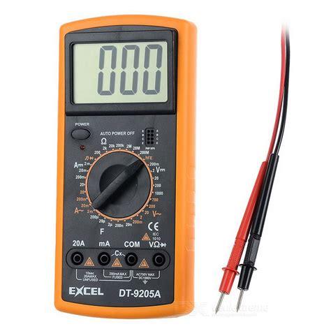 excel dta  lcd digital multimeter black orange