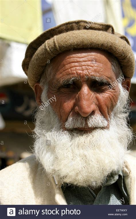 Old Man Wearing Traditional Style Beret Called A Pakol In