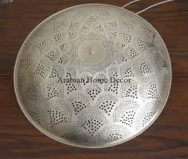 handcrafted moroccan silver plated brass flush mount