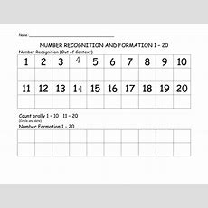Number Recognition Assessment Form By Das100  Teaching Resources Tes