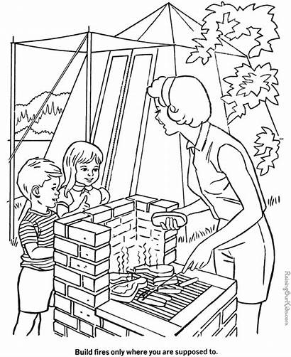 Camping Coloring Pages Sheets Preschool Summer Fun