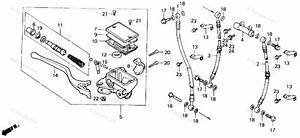 Honda Atv 1987 Oem Parts Diagram For Front Brake Master