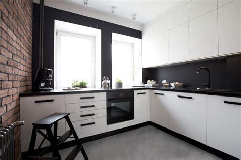 decoration des cuisines modernes cuisine moderne avec mur de briques
