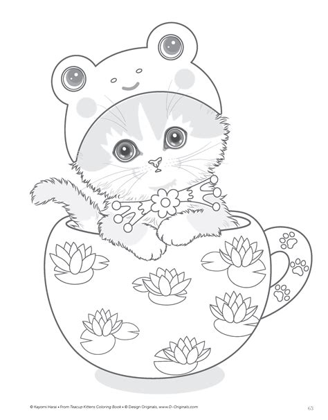 Kleurplaat Kttens by Teacup Kittens Coloring Book Design Originals 32