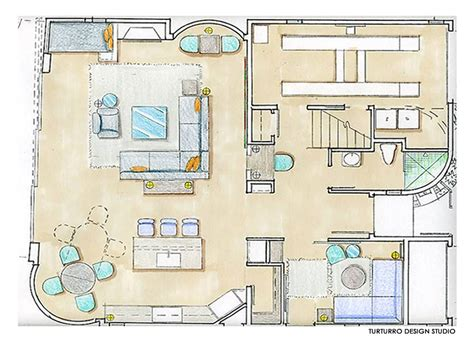 First Floor Drawing, Ecofriendly Beach House In California