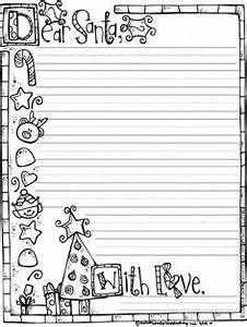 Santa wish list template worksheets santa and template for Santa letter writing paper