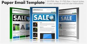 paper email templates 16 html email templates by cazoobi With cool html email templates