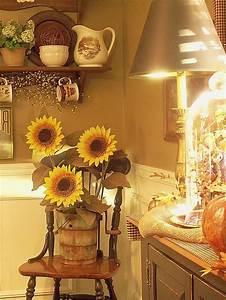 Sunflower, Kitchen, Decor, Ideas, Excellent, Appearance