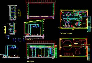 Plant Sewage Treatment DWG Section for AutoCAD • Designs CAD