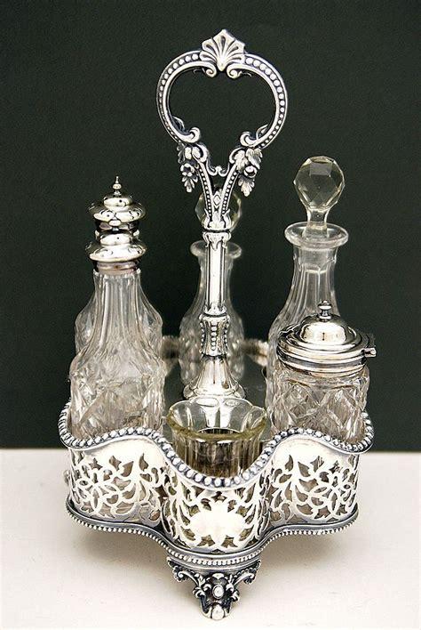 cruet set finest victorian silver plated  bottles cruet