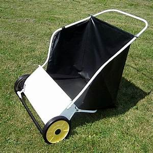 Deluxe Push Lawn Sweeper In White  26 In   Compare Price
