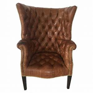 High, Back, Tufted, Leather, Chair, For, Sale, At, 1stdibs