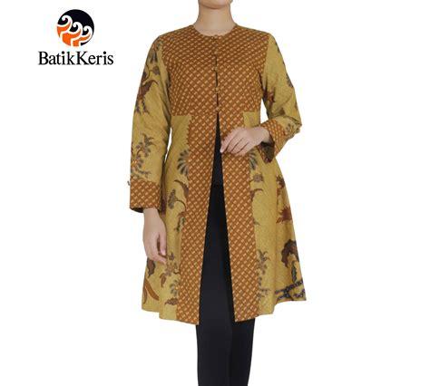 outer batik lengan panjang motif lar condrowinoto kombinasi nitik rahayu batik keris