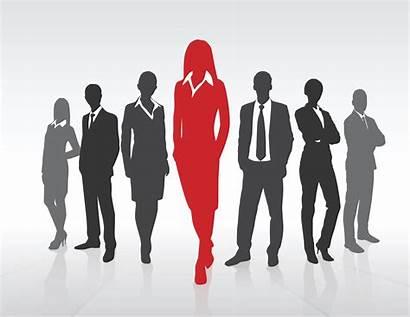 Leadership Business Team Silhouette Businesswoman Vector Concept