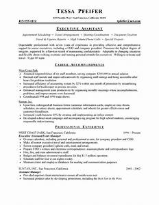 executive assistant resume free sample resumes With how to write a resume for an executive position