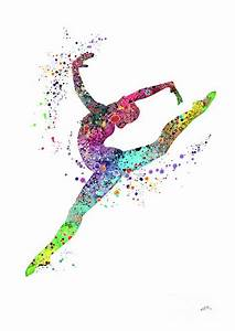 Gymnast Art Print Sports Print Watercolor Print Gymnast