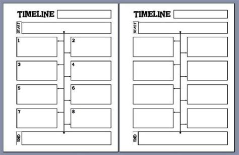 timeline template 10 points 5th grade 8 best images of printable blank timelines for students