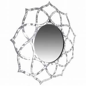 Designer Wandspiegel Groß : spiegel wandspiegel gro silber 88 cm alu deko rund orientalisch design indien spiegel m bel ~ Orissabook.com Haus und Dekorationen